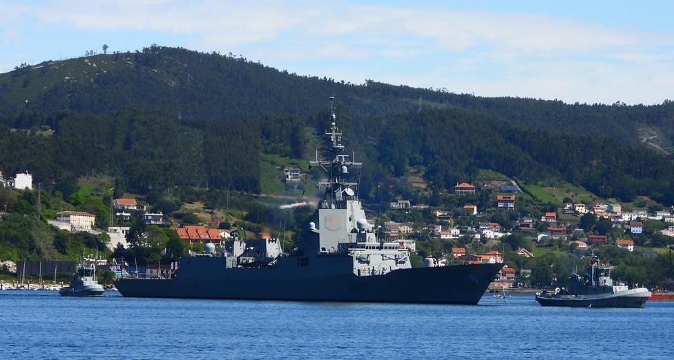 Foto de archivo de la fragata Almirante Juan de Borbón - FOTO: Jose R. Montero