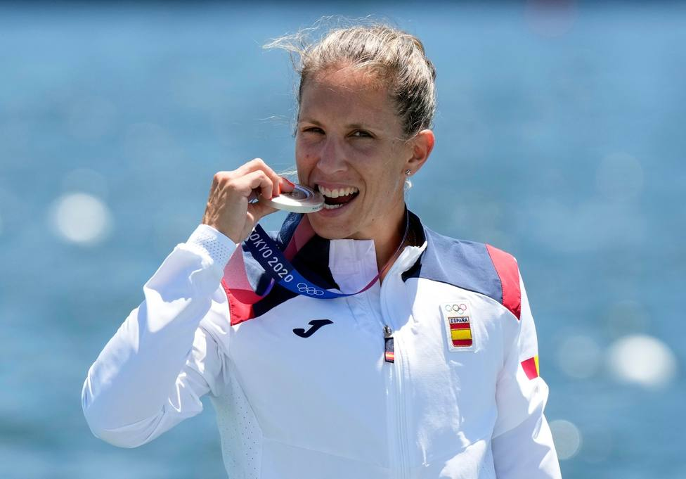 Teresa Portela, con la medalla de plata