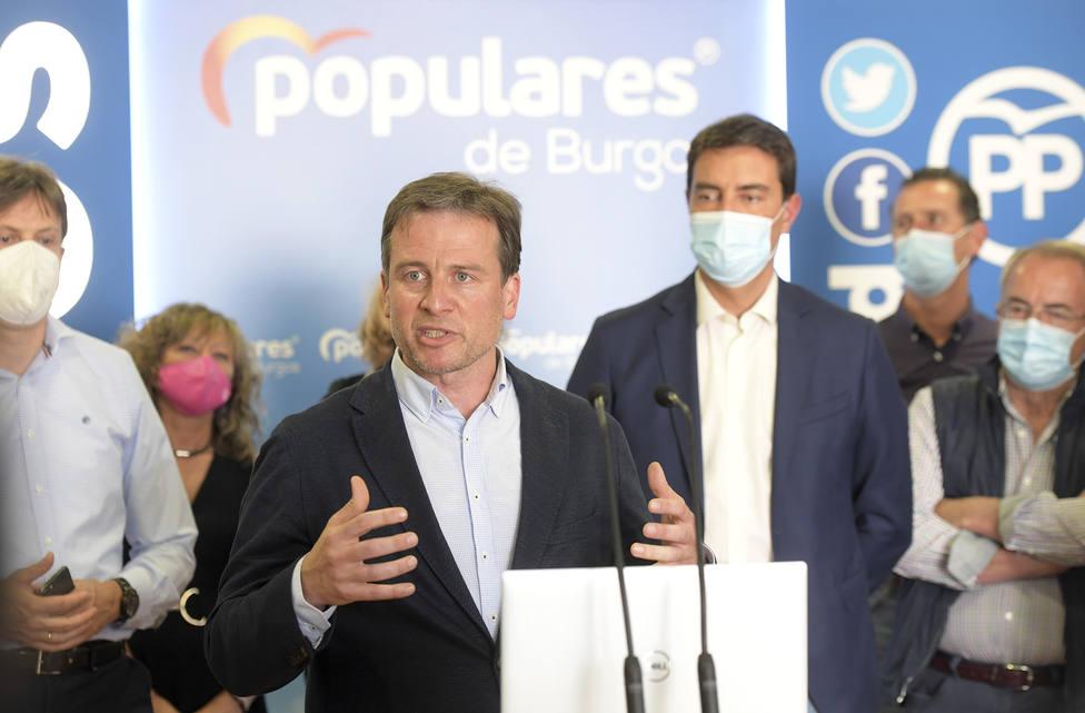 Borja Suárez presenta su candidatura a la presidencia del PP de Burgos