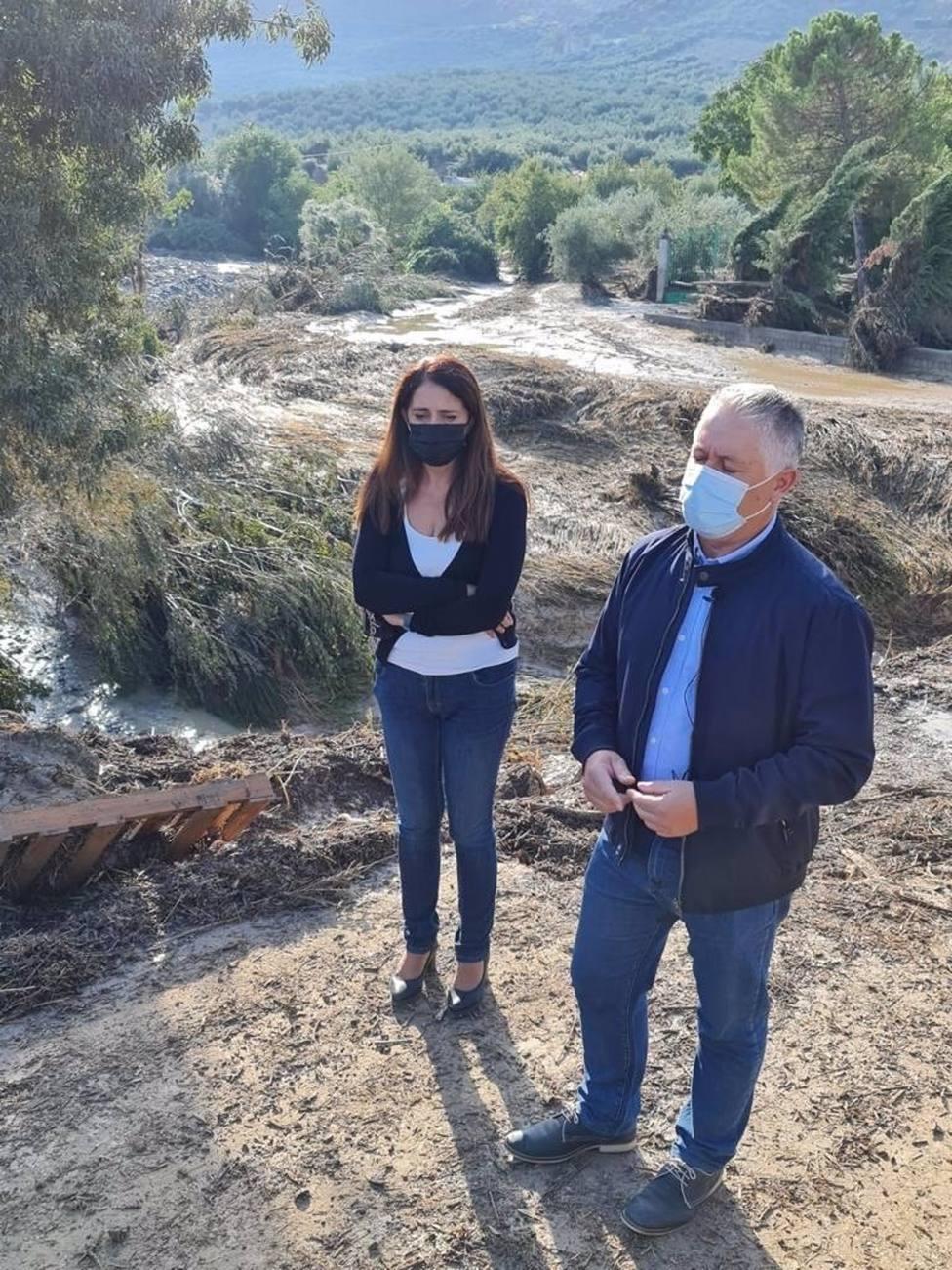 La Diputación trabaja en la limpieza de las carreteras de la comarca de los Montes tras la tormenta