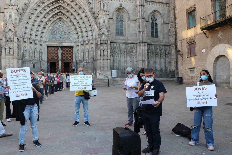 Iglesia por el Trabajo Digno se reivindica en e Barcelona. Fuente: Iglesia por el Trabajo Digno
