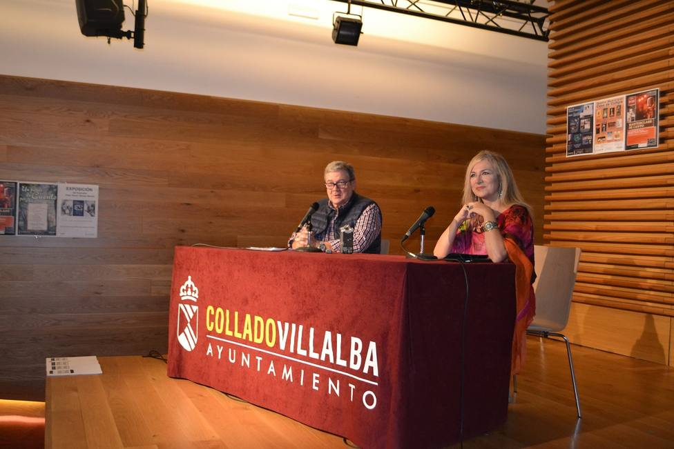 José Colmenero y Pilar Jurado durante la presentación en Peñalba