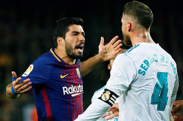 Sergio Ramos y Luis Suárez