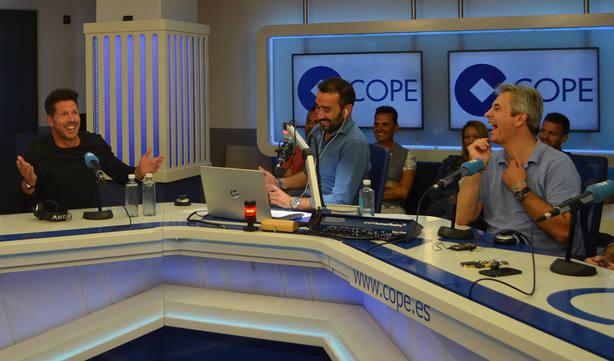 Simeone, en El Partidazo de COPE, con Juanma Castaño