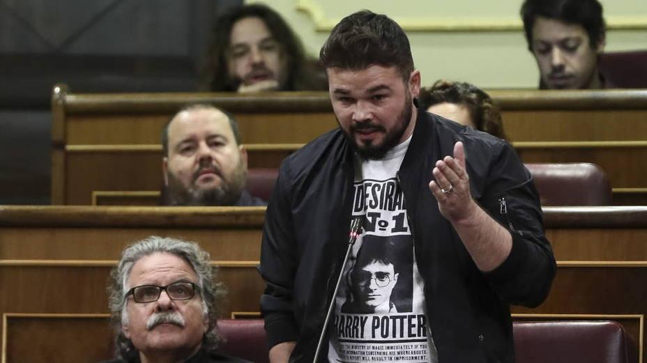 Rufián compara el procés y La Manada... y Jordi Cañas (Cs) le responde