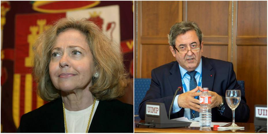 Los fiscales Consuelo Madrigal y Javier Zaragoza