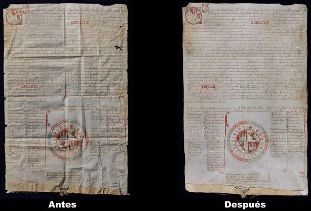Los trabajos de restauración han mejorado el documento notablemente