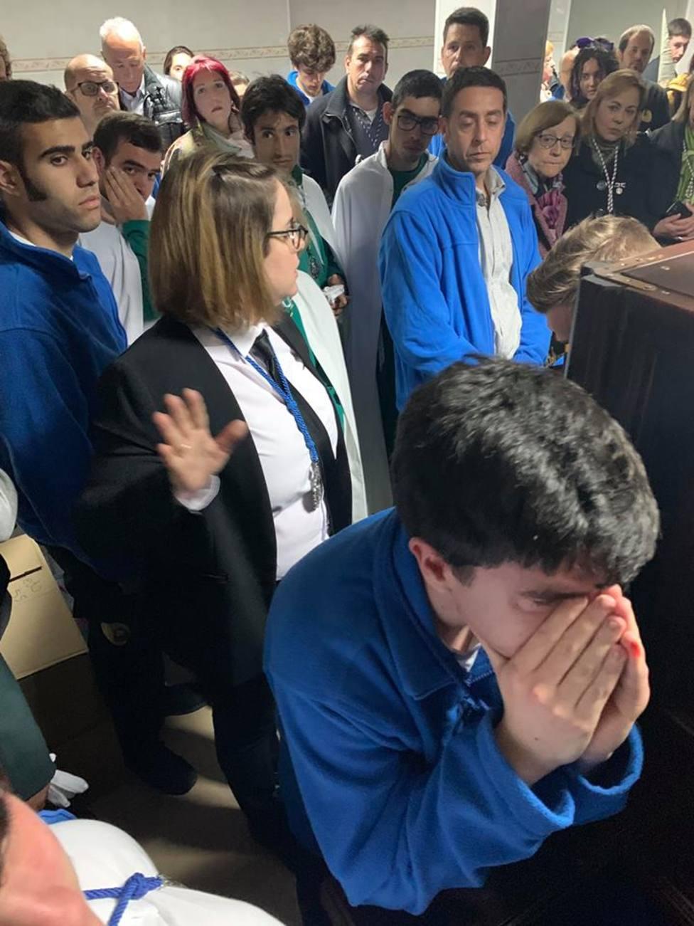 La lluvia impidió ayer procesionar al Cautivo en Logroño