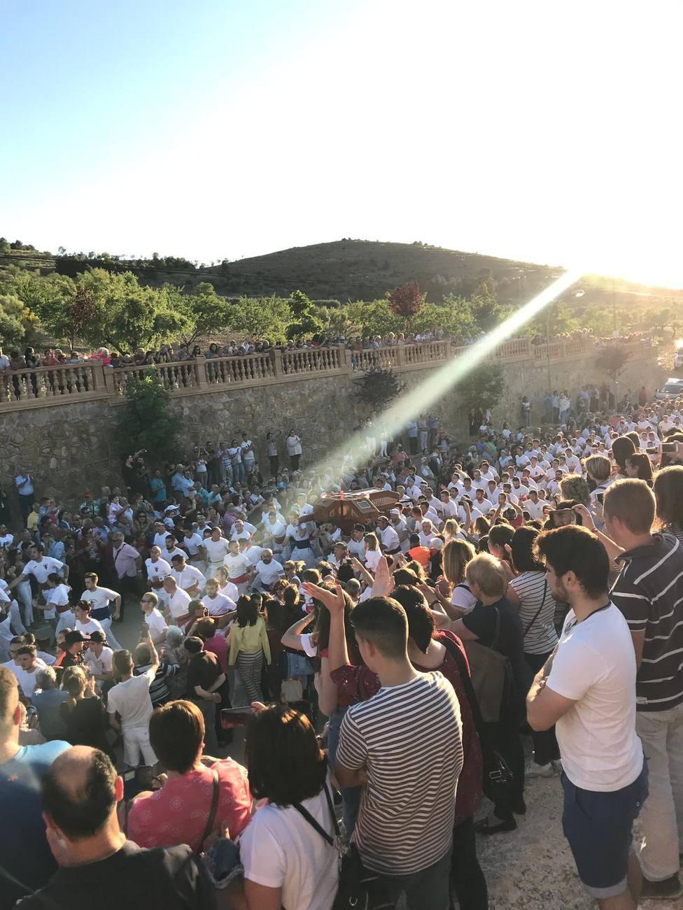 Esta espectacular imagen nos dejó la procesión del Cristo del Sahúco