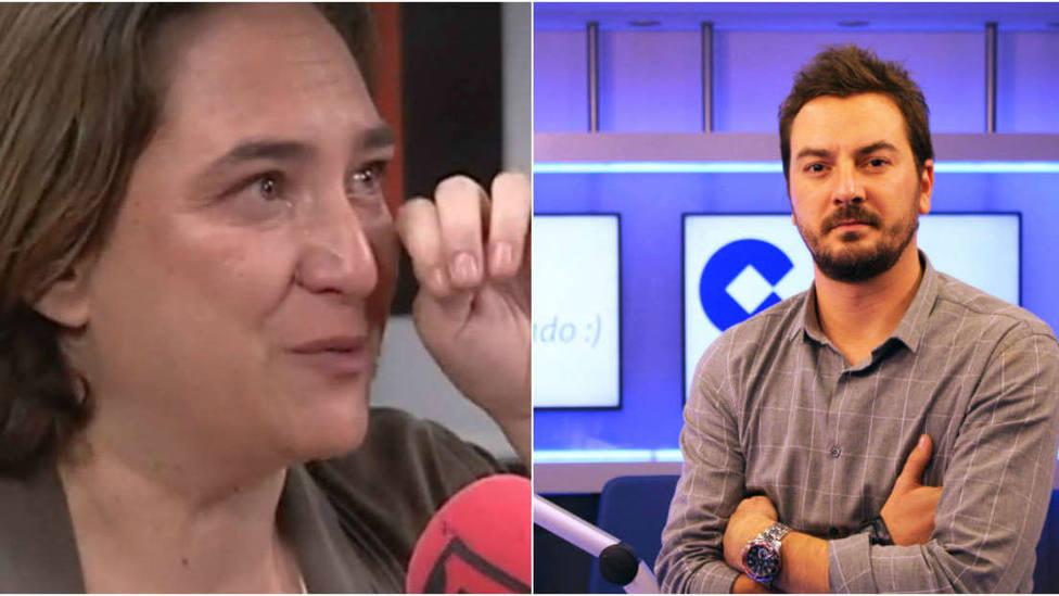 Así reacciona Jorge Bustos a las lágrimas de Ada Colau
