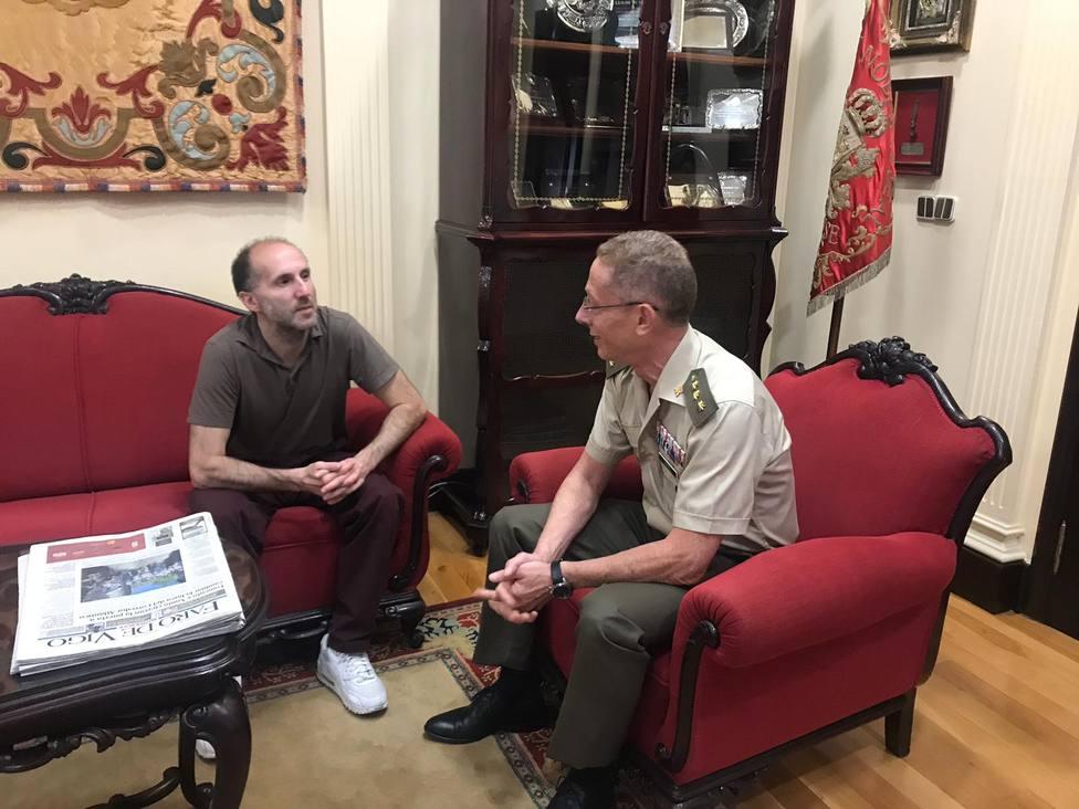 Primera reunión entre el alcalde de Ourense y el subdelegado de Defensa