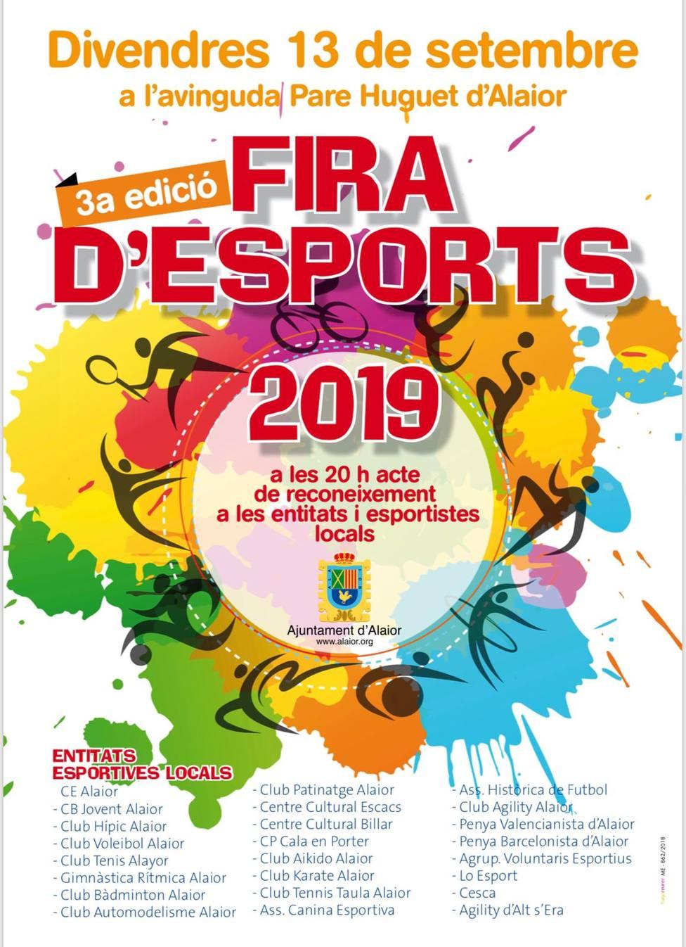 Alaior acogerá mañana la 3ª Feria de de Deportes