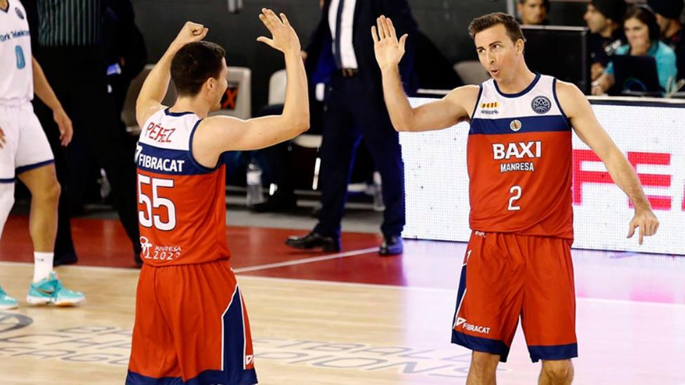 Dani Pérez y Ryan Toolson, del Baxi Manresa (Basketball Champions League)