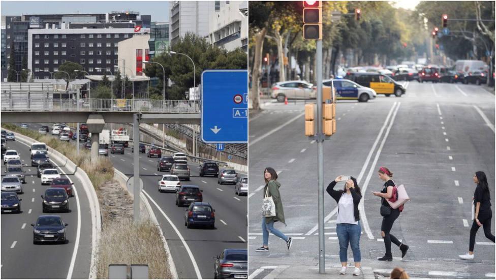 La M-40 en Madrid y la Diagonal de Barcelona, las más peligrosas para los conductores