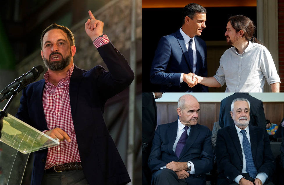 El duro mensaje de Abascal contra Pablo Iglesias y su abrazo al partido más corrupto de Europa por los ERE