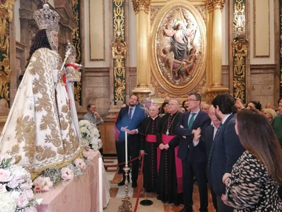 La imagen restaurada de La Fuensanta ya se encuentra en el Santuario