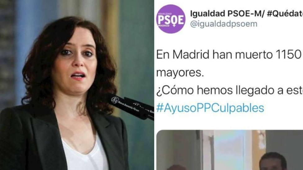 La contundente respuesta del PP al miserable vídeo del PSOE contra Díaz Ayuso
