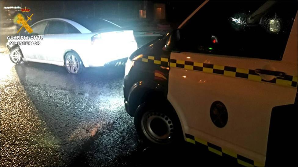 La Guardia Civil los detuvo tras intentar eludir un control