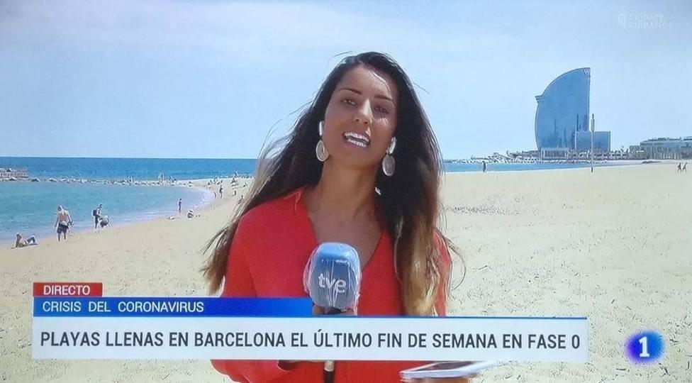 """TVE denuncia que la Barceloneta está """"llena"""" y lo que muestran las cámaras les deja con esta cara"""
