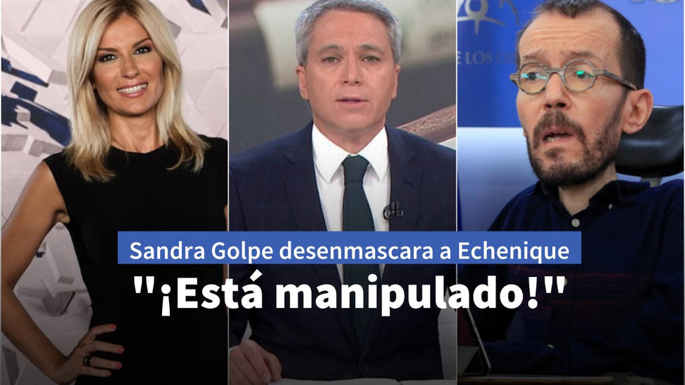"Sandra Golpe destripa el vídeo de Podemos para intentar censurar a Vicente Vallés: ""¡Está manipulado!"""