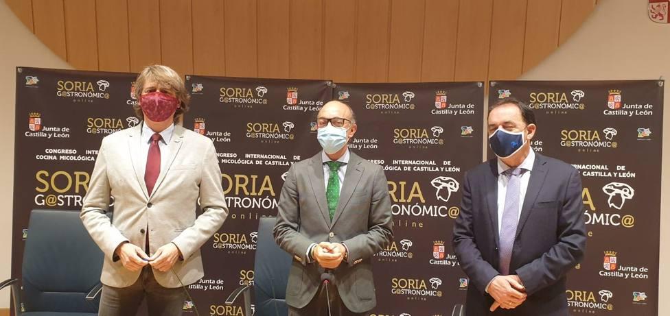 Javier Ortega, consejero de Cultura y Turismo, en la presentación del Soria Gastronómica