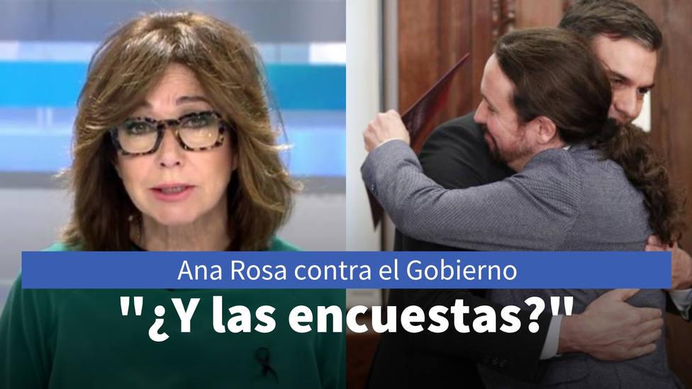 Ana Rosa desmonta la línea de flotación del Gobierno: ¿Y las encuestas?