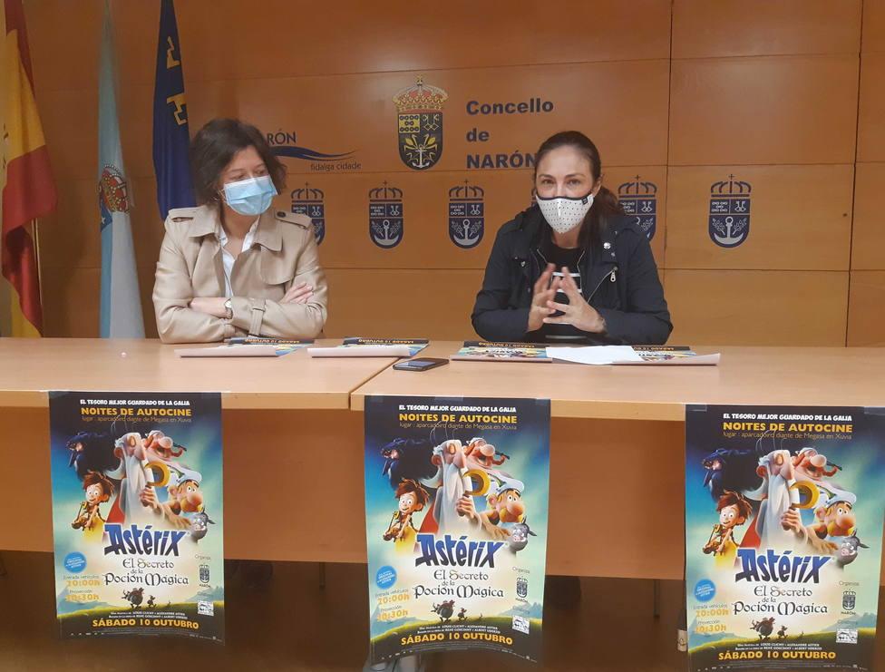 Natalia Hermida e Isabel Allegue en rueda de prensa. FOTO: Concello de Narón
