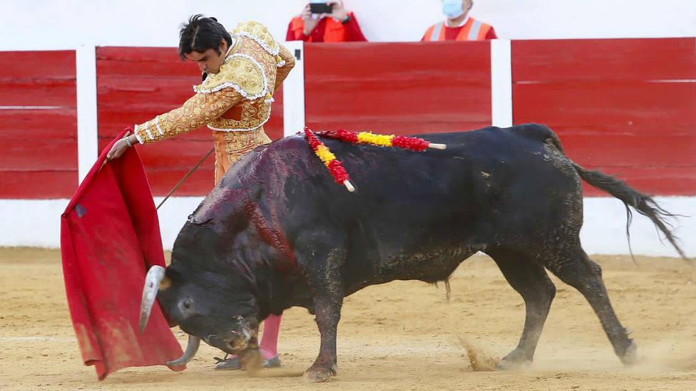 Pase de pecho de Miguel Ángel Perera a Retama de Fuente Ymbro en Barcarrota