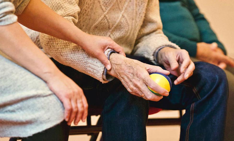 Residentes en un centro de mayores
