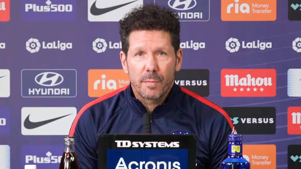 Diego Simeone, en la rueda de prensa previa al partido frente al Barcelona
