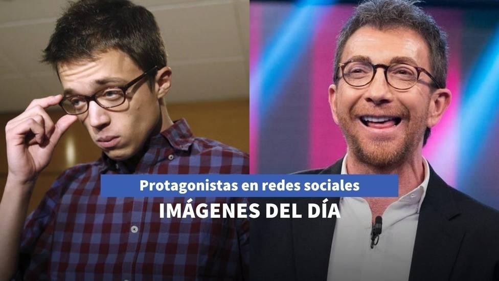 Imágenes del día: Errejón se pierde en un garaje y Pablo Motos vuelve a 'El Hormiguero' tras su operación