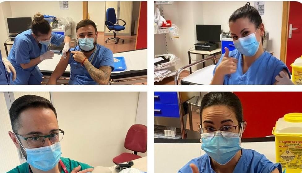 Salud comienza a vacunar a los profesionales del Hospital Rafael Méndez.
