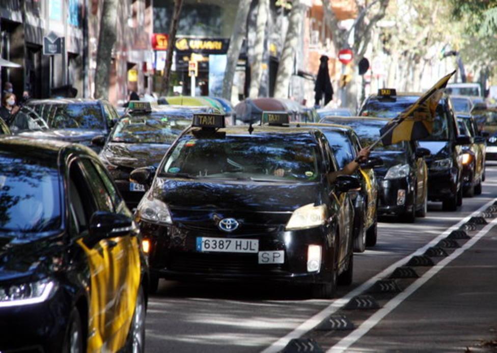 Huelga de taxistas de Barcelona