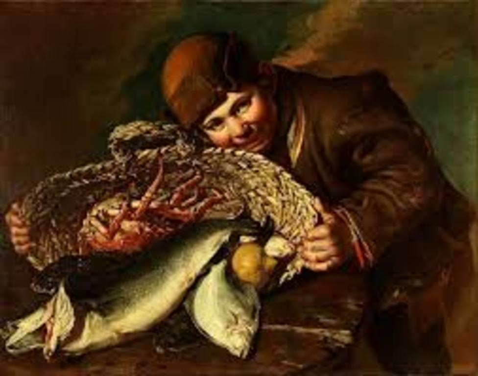Muchacho con cesta de pescados, de Pitocchetto