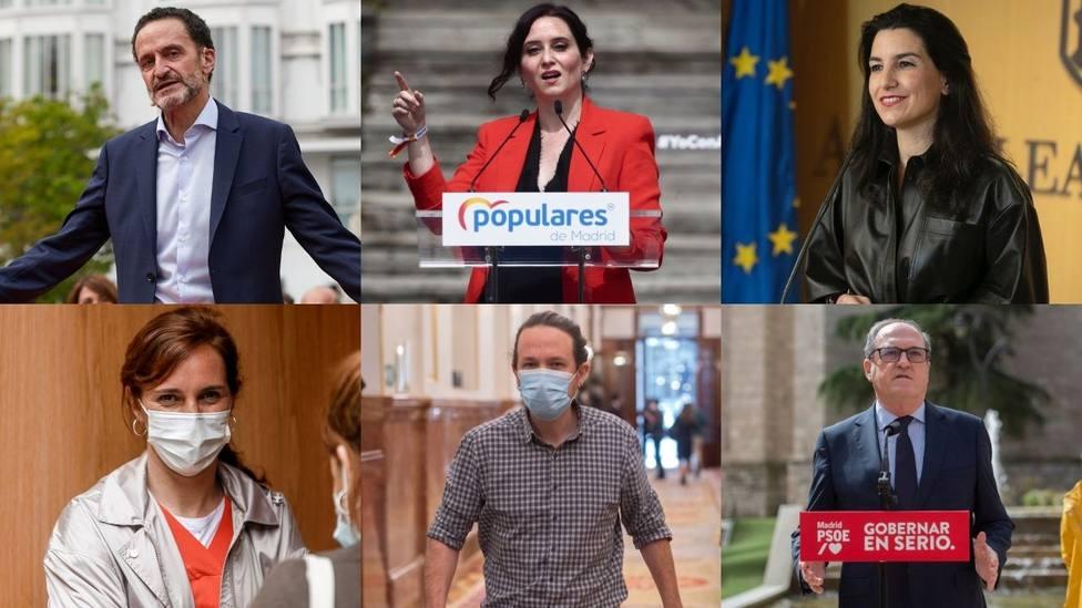 El fuego cruzado entre los diversos candidatos marca la campaña en Madrid a un mes del 4-M