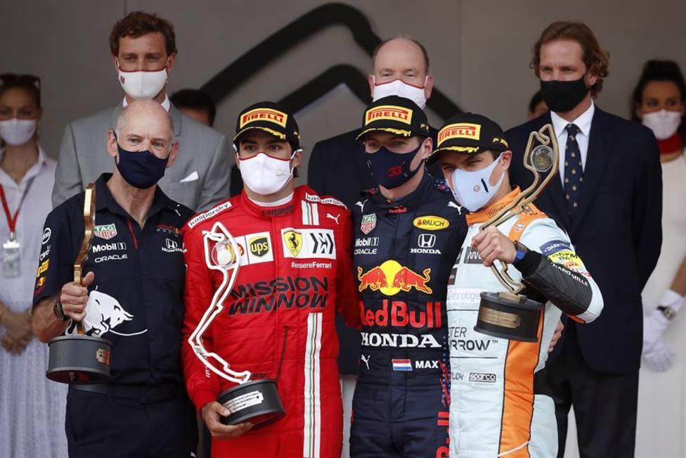 Podio GP de Mónaco 2021