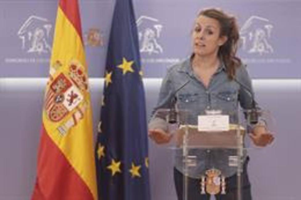La diputada de la CUP, Mireia Vehí, en el Congreso