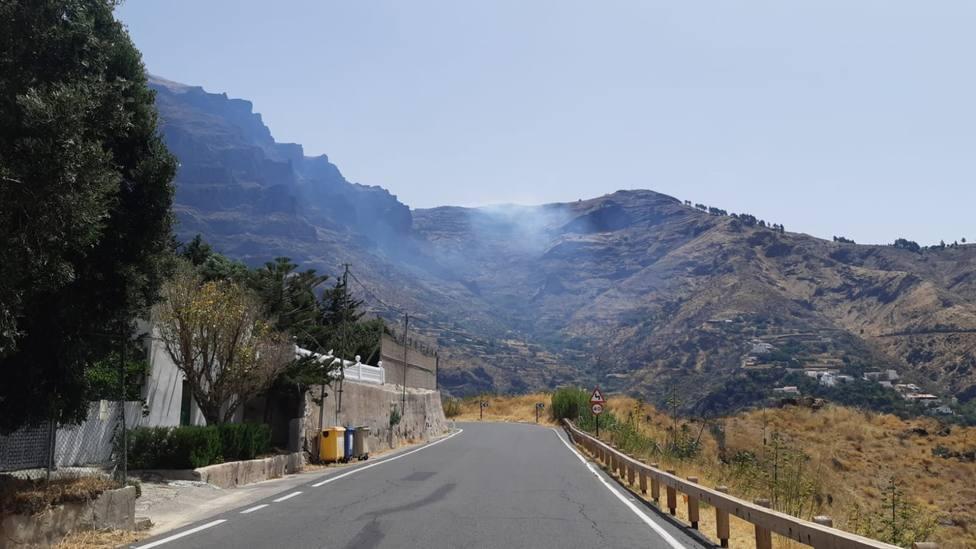 Declaran un conato de incendio en la Degollada de Las Palomas, en San Mateo