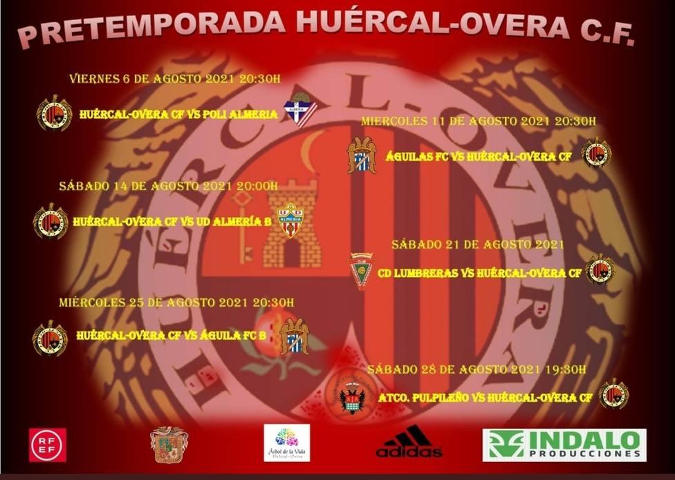 El Huércal Overa jugará seis amistosos de pretemporada