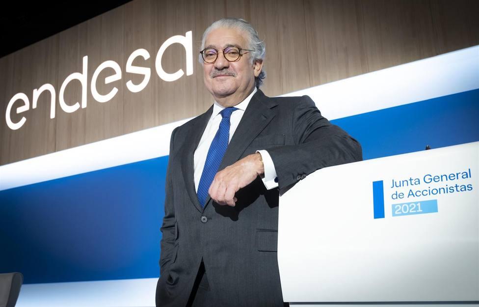 El consejero delegado de Endesa, José Bogas, en la junta general de accionistas de 2021. FOTO: ENDESA