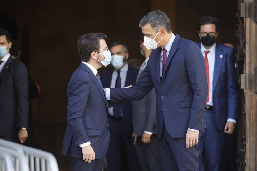 Pere Aragonès y Pedro Sánchez