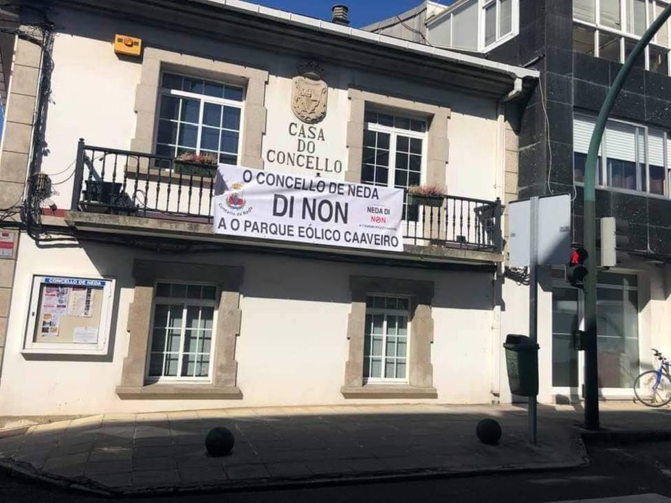 La concentración contra el parque eólico de Caaveiro será este lunes antes el Ayuntamiento