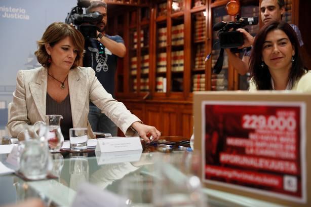 Ministra de Justicia se reúne con María José Rienda y Alberto Contador ##porunaleyjusta