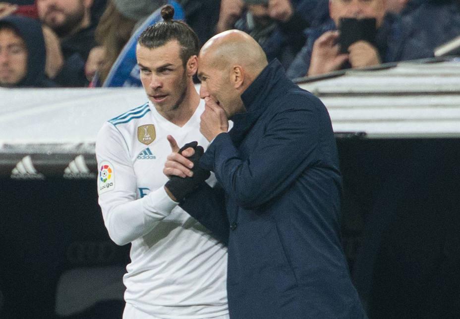 Bale y Zidane, en un partido del Real Madrid (Cordon Press)
