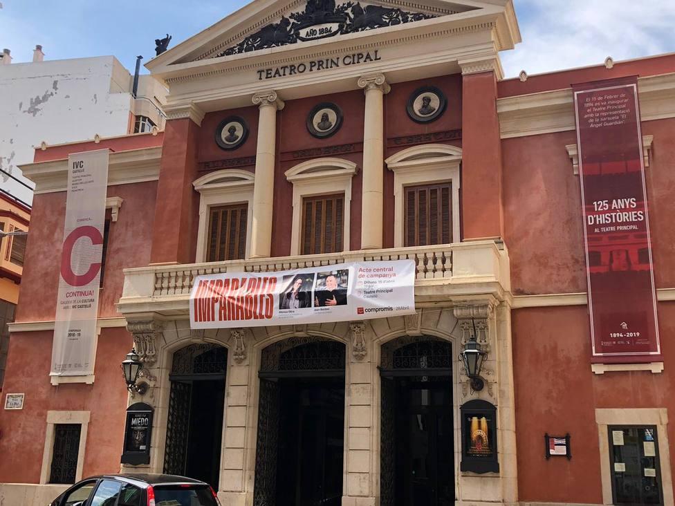 Compromís celebró su acto central de campaña en el Teatro Principal