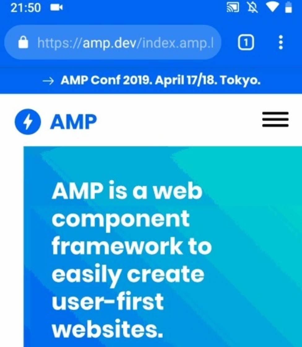 Las páginas web móviles AMP mostrarán la url original en la barra de dirección de Chrome