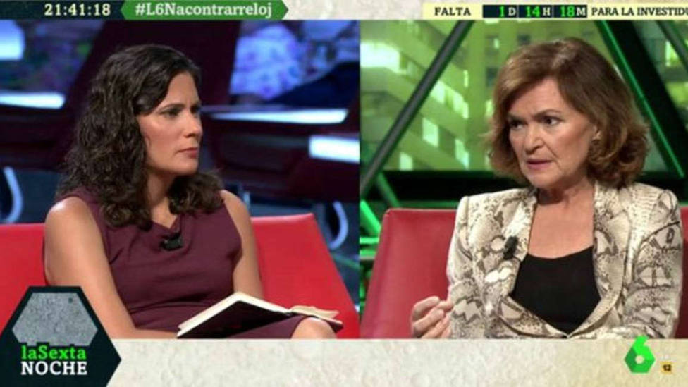 La retorcida excusa de Carmen Calvo para desmentir el veto de Sánchez a Iglesias