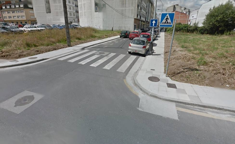 Intersección entre las calles RIbadeo y Alcalde Fraga Bello, en el municipio de Vilalba