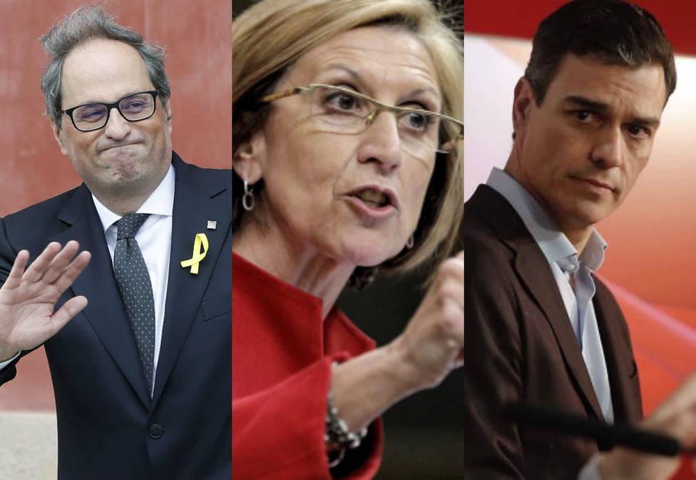 El duro ataque de Rosa Díez al PSOE de Pedro Sánchez e Iceta por este bonito gesto con Quim Torra