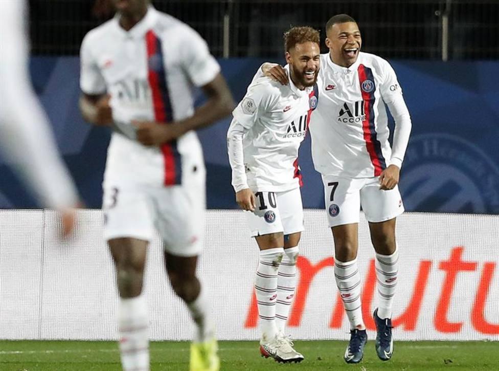 Neymar y Mbappé sacan de un apuro al PSG; el Lille se asienta en posiciones europeas
